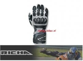 Handschoen Richa motor GPtopRACE  zwart/wit/grey -XS-