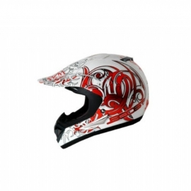 Helm Boost B630 snake wit/rood maat -S-