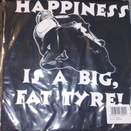 t-shirt Hapiness is a big fat tyre