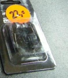 """Haakse ventielenset """"zwart""""12mm"""