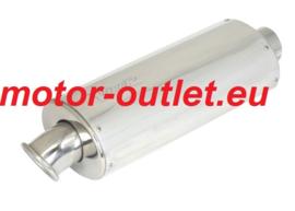 uitlaat seatpipe Universeel shorty 30 cm aluminium ovaal,  seatpipe