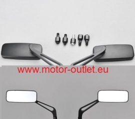 Spiegel-Set geanodiseerd Aluminium