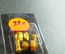 "Haakse ventielenset ""goud""12mm"