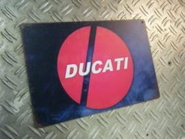 Parkeer Bord   / Parking Signs Ducati (vlakke plaat)