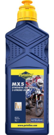 olie  MX5 synthetic off road 2-stroke oil 1 liter