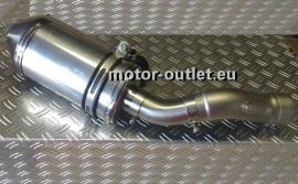 uitlaat Yamaha FZ1  aluminium ovaal, carbon cap
