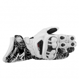 Handschoen Alpinestars GP Pro leather gloves  wit/zwart  -XXL-