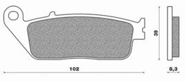 Remblokset Brembo 07HO4108 carbon-ceramic  Honda / Suzuki / Triumph / Cagiva
