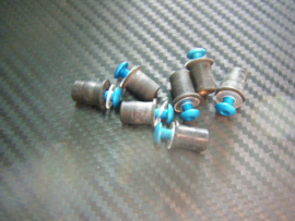 kuipruitboutjes alu blauw 7x boutjes/welnuts/ringen