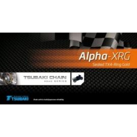 ketting Tsubaki Alpha-XRG MX  - 520 TX-4 gold klink & vissluiting 116links tot 120pk