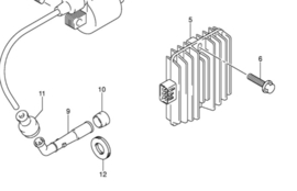 Spanningsregelaar stroomregelaar Suzuki 32800-42F00 LTA / GSR / enz