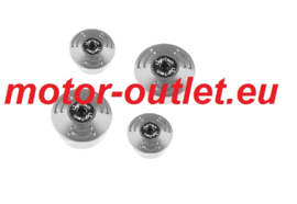 LIGHTECH Frame Plug Set Silver Ducati(4 pieces)