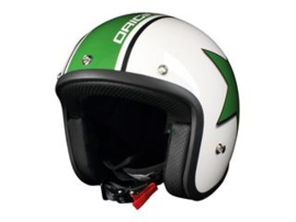 Helm Origine Primo  white/green star maat L