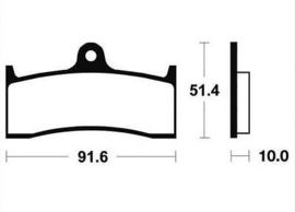 Remblok CL2404C55  Beringer / Nissin voor  6zuiger remklauw