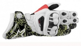Handschoen Alpinestars GP Pro leather gloves  wit S