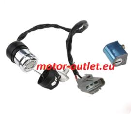 contacslot quad (vochtsleutelhoesje)  incl. stuurslot cilinder(2draads)