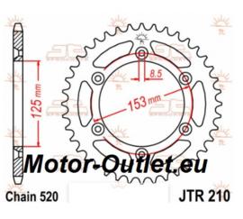 Kettingwiel (23a)Honda CRF450-250 enz. JTR210.38