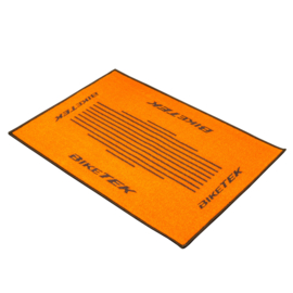 deurmat orange-black mat
