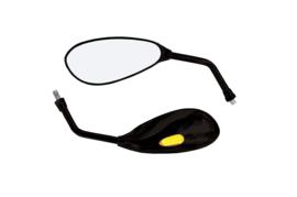 "Spiegel ""Patrol"" universeel zwart met LED (stuurspiegel)"