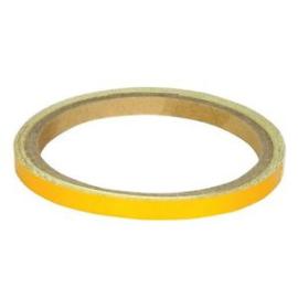 Wheel striping licht goud  7mm Reflecterend