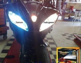 koplamp H4 Bi-Xenon MotorKit ( groot & klein licht)
