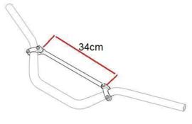 stuurbrace 34cm aluminium