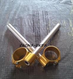 Clipons 58 mm Aluminium Clip-On Kit GOUD