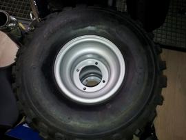 """Band Quad achterwielenset  staal 8"""" met kenda KLAW XCR  21x10x8 banden"""