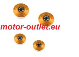 LIGHTECH Frame Plug Set Gold Ducati(4 pieces)