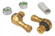Haakse ventielenset Ariete goud 12mm