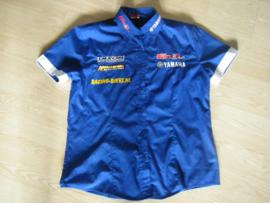 Paddockblouse blauw-wit  Yamaha maat S
