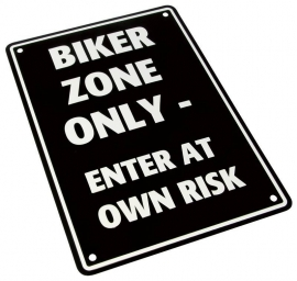 Parkeer Bord   / Parking Signs biker zone only