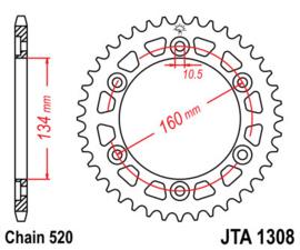 Kettingwiel (8)Honda CBR900-1000RR SP1-2 JTR1308.43