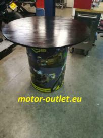 tafel Oil Drum Table (sigma coating zwart vast blad)