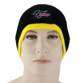 Muts Beanie MotoGP black/yellow VR-rossie geel