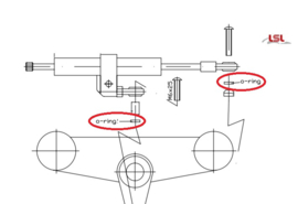 stuurdemper LSL O-ring stuurdemper