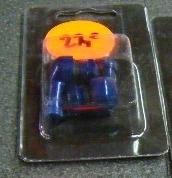 """Haakse ventielenset """"blauw""""12mm"""