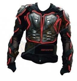 bodyprotector  zwart-rood maat l/xl