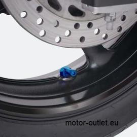 "Haakse ventielenset 90graden""blauw""11.7mm"