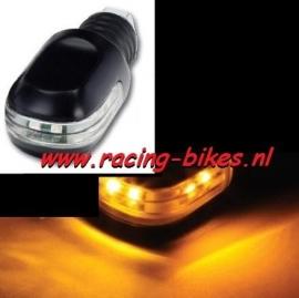 knipperlicht LED stuurgewichten oranje (set)