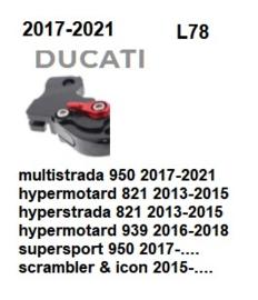 Titax koppelingshendel  L78 Ducati 821 - 950 - 939 -