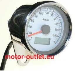 Universal Motor kilometermeter  Chrome  - 240kmh 1: 4