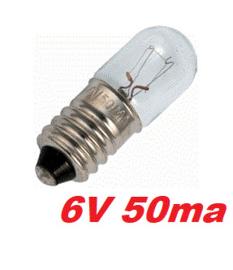 Lamp 6V 50MA  E10