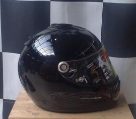 Helm Shark RSX black extra dik vizier maat -XS-