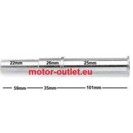 as pin asdoorn enkelzijdige achterbrug Ducati 21,8-26mm