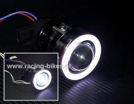 koplamp Xenon lenslamp met Angel-Eye complete set 79mm
