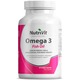 Omega 3 Fish Oil 1000mg - Nutrivit - 60 capsules