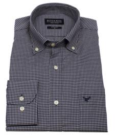 Overhemd 100% katoen, twill, button down kraag, lange mouw, (196057)