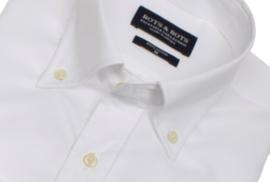Overhemd 100% katoen, wit, button down kraag (196058)