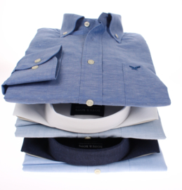 Overhemd 100%  linnen, buttondown kraag, lange mouw, made in Europe 206001